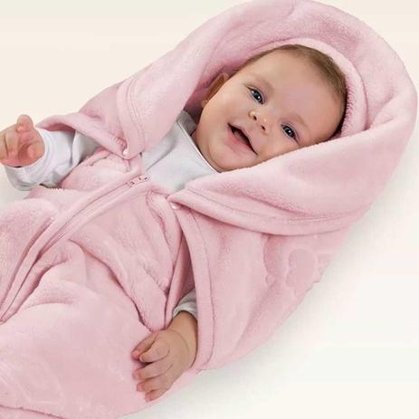Imagem de Cobertor menina Baby Sac com relevo Jolitex
