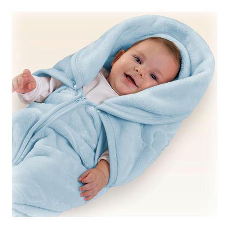 Imagem de Cobertor menino Baby Sac com relevo Jolitex