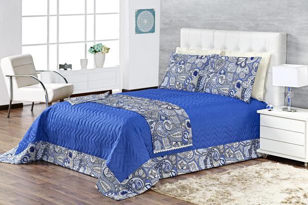 Imagem de Cobre Leito Casal Queen Dijon -Azul