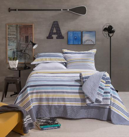 Imagem de Cobre Leito Home Design Oliver Cinza - 100 Algodão - Santista