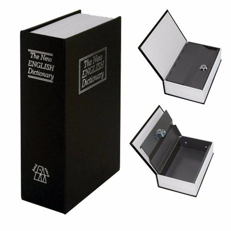 Imagem de Cofre Camuflado Forma De Livro Dicionário Com Chave Pequeno