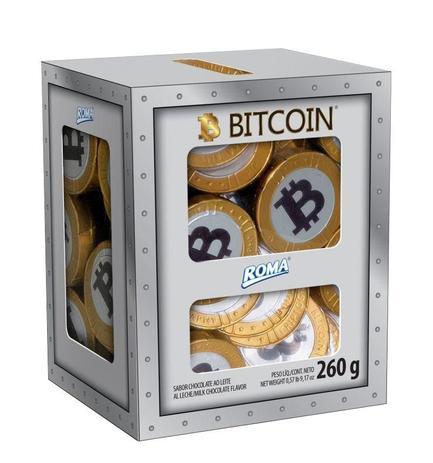 Imagem de Cofre de Moedas Bitcoin Chocolate - Roma
