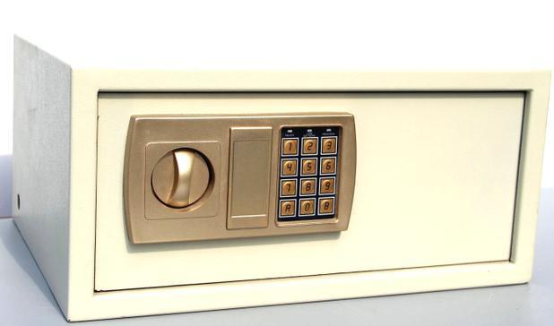 Imagem de Cofre Eletrônico Digital Aço com 2 Chaves De Segurança 43EDA