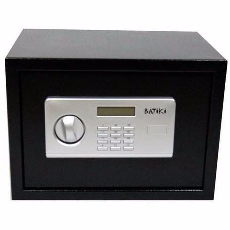 Imagem de Cofre eletronico digital com lcd e senha grande com chave reserva, chumbadores e suporte de parede 3