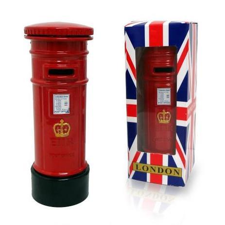 e0bd5343c Menor preço em Cofre Londres Retro Vintage Caixa Correio Dinheiro Moeda  Cofrinho (03073) -