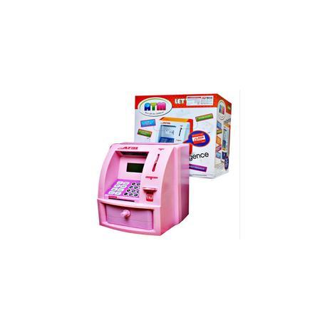 Imagem de Cofrinho digital lcd senha cofre eletronico teclado caixa eletronico infantil automatico alarme moedas notas