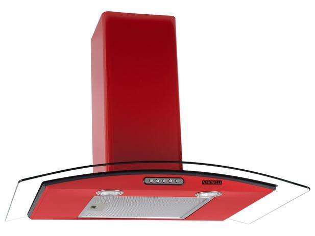 Coifa de Parede Nardelli Inox 75cm com Vidro Curvo - 3 Velocidades Slim RED 110V - 110V