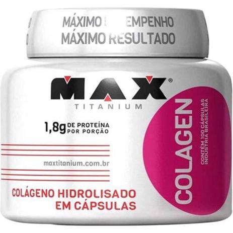 Imagem de Colageno Colagen Pote 100 Capsulas Max Titanium