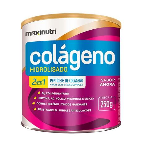 c05b1f768 Colágeno Hidrolisado 2 em 1 - 250 gramas - Maxinutri - Colágeno ...