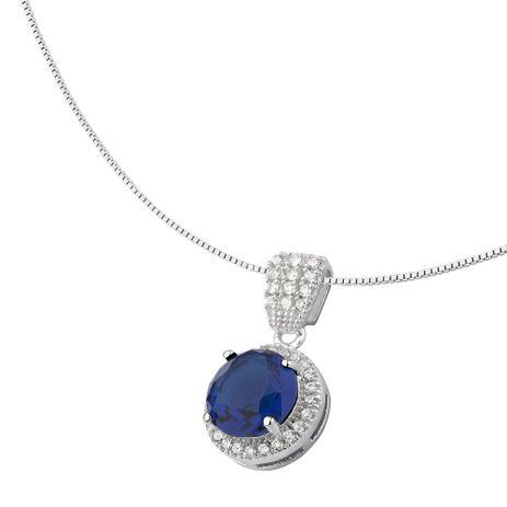 Colar com Pedra Azul em Prata 925 - Joia em casa - Colar - Magazine ... 80244308e6