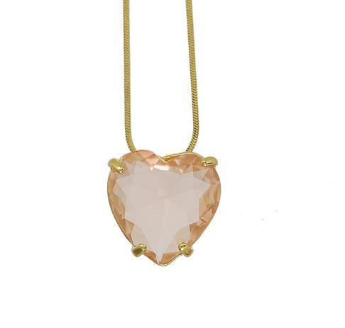 b101ea292 Colar com pingente de coração - Click bolsas e bijuterias - Colar ...