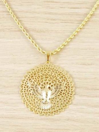 37133d5f92810 Colar Cordão Baiano Feminino 50cm Espirito Santo tudo Folheado á Ouro -  Gabriela costa semi jóias