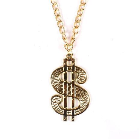 dbff3233fa9 Colar Corrente com Cifrão Dólar de 10cm Dourada - Aluá festas ...