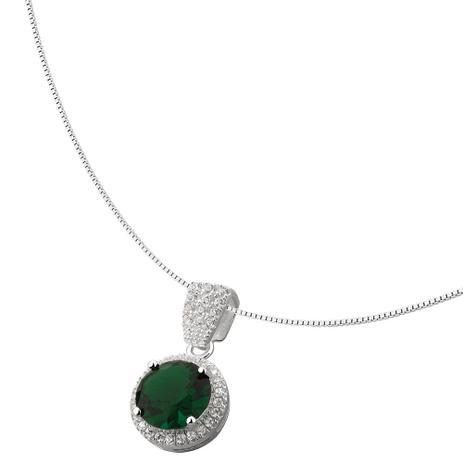 378d15f206c Colar de Prata com Pedra Verde - Joia em casa - Colar - Magazine Luiza