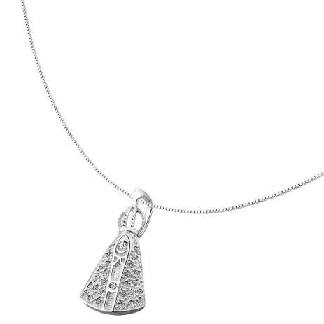 Colar Nossa Senhora Aparecida de Prata - Joia em casa - Colar ... 041595fc5e