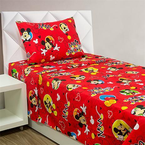 ceb172c32b Colcha Boutis First Class Solteiro Mickey 2 Peças Disney Vermelho - Tecebem