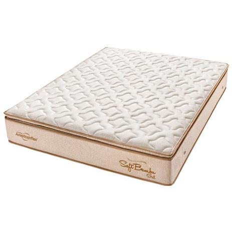 15083a9ba Colchão Casal Pillow Top Soft Bambu Gel One Face - Americanflex ...