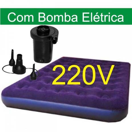 eea2c887c Colchao Inflavel Mor Casal com Bomba Eletrico 220v - Colchão ...