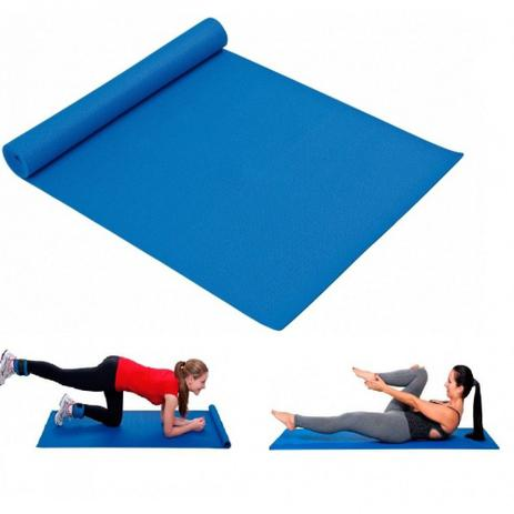 Imagem de Colchonete em Eva para Exercicios Fitness Ou Yoga Cor Azul  Mor