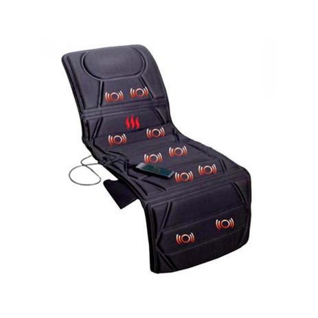 Imagem de Colchonete Massageador 10 Motores Bivolt, 5 Tipos de Massagem, Aquecimento, Relaxmedic - Preto