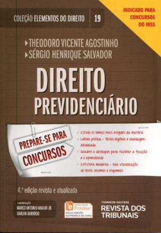 Imagem de Coleção Elementos do Direito - Direito Previdenciário - Volume 19 - 4ª Edição 2017