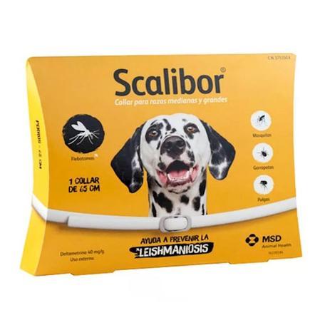 Imagem de Coleira antiparasitária para cães de grande porte scalibor 25g - msd saúde animal