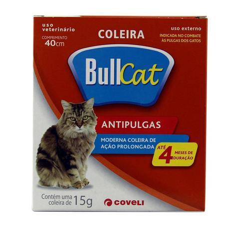 Imagem de Coleira Bullcat Antipulgas e Carrapatos p/ Gatos 40cm - Coveli