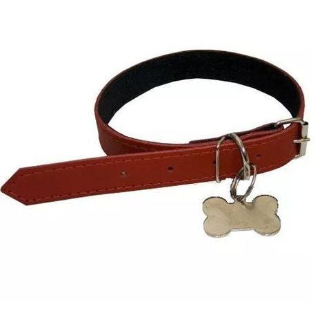 Imagem de Coleira Para Cães Com Pingente Ossinho Vermelha