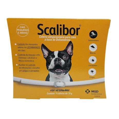 Imagem de Coleira Scalibor Cães Peq e Med Porte 48cm até 20kg MSD