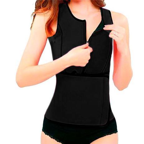 Imagem de Colete cinta modelador Regata Redutor de Medida Ajuste Cintura Hot Shapers