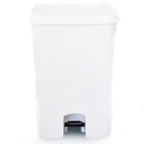 Imagem de Coletor de lixo 100L c/ pedal e sem rodas CP10BR Branco  - Bralimpia