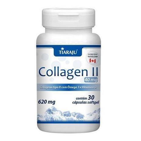 b06295f849b Collagen II 620mg com Ômega 3 + Vitamina D - 30 Cápsulas - Tiaraju ...