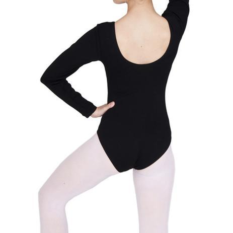 3f84aa1154 Collant Ballet Manga Longa Infantil 02 ao 12 - Preto - Marabá ...