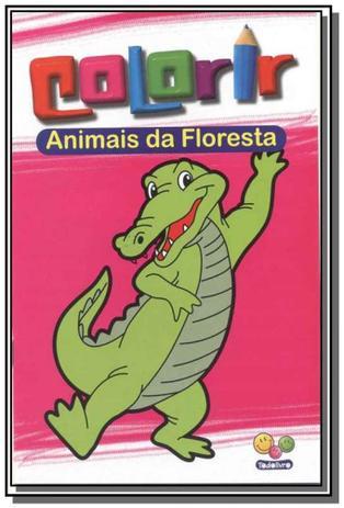 colorir animais da floresta todolivro livro de literatura