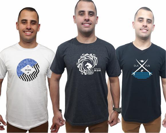 85ebb1fac7 Combo 3 Camisetas Masculinas Kit Promoção Camisas Qualidade - Da ilha  floripa