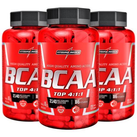 ca1782944 Combo 3x BCAA Top 4 1 1 120 Cápsulas - IntegralMedica - BCAA ...