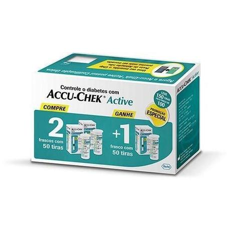 Imagem de Combo Accu-chek Active Compre 2 Leve 3 C/ 50 unidades cada