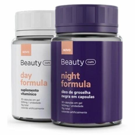 Imagem de Combo BeautyCaps Day Fórmula e BeautyCaps Night Fórmula