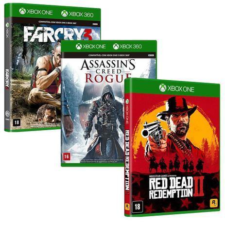 Imagem de Combo de Jogos Xbox One - Red Dead Redemption 2 + Assassin's Creed Rogue + Far Cry 3