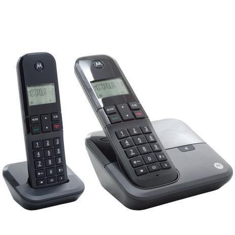 6feed8ef5 Combo DUO de Telefone Digital sem Fio Moto 3000 com Identificador de  Chamadas - Motorola