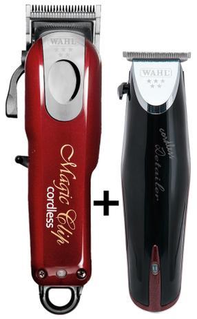 a481605de Combo máquina de cortar cabelo e acabamento - magic clip cordless e detailer  cordless - Wahl