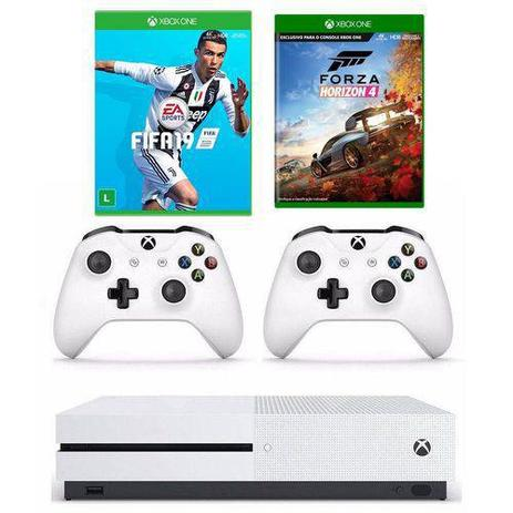 Imagem de Combo Xbox One S 1TB + Forza Horizon 4 + FIFA 19 + Controle Extra