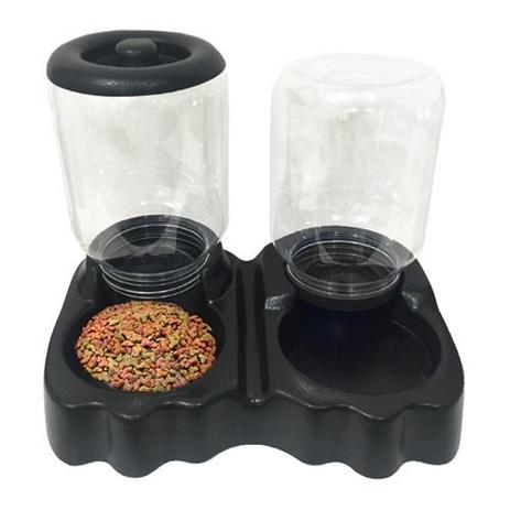 Imagem de Comedouro Automático Duplo Bebedouro para Caes e Gatos 3L/1,5kg