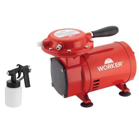 a52280e7a Compressor Ar Direto Com Kit Pintura Bivolt 127 220V Worker ...