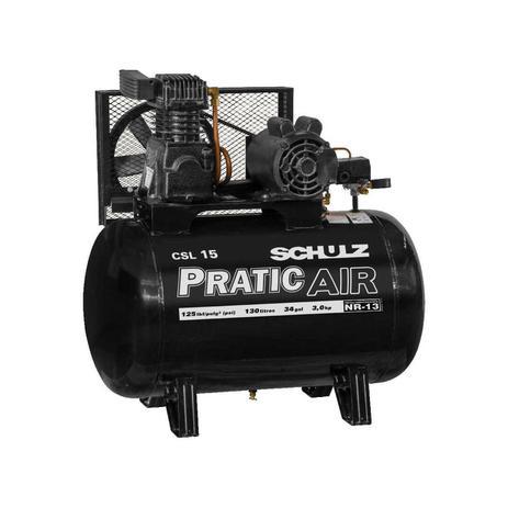 Imagem de Compressor de Ar 03CV CSL 15 130 L 110/220v Mono Pratic Air SCHULZ