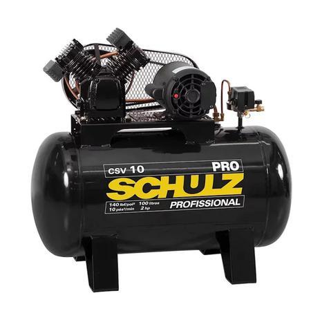 Imagem de Compressor de Ar 10 Pés 100 Litros 140Lbs 220V CSV10/100 PRO SCHULZ