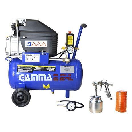Imagem de Compressor de Ar 2 HP 24 Litros com Kit 220v Gamma