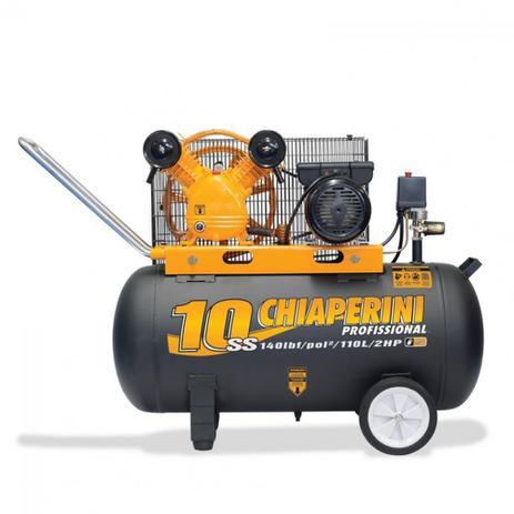 d41e78935 Compressor de ar média pressão 10 pés 110 litros monofásico - 10SS 110L ( 110V 220V) - Chiaperini