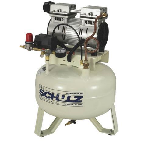 Imagem de Compressor odontologico schulz csd 5 pes 30 litros 1 cv monofásico 127v - isento de oleo