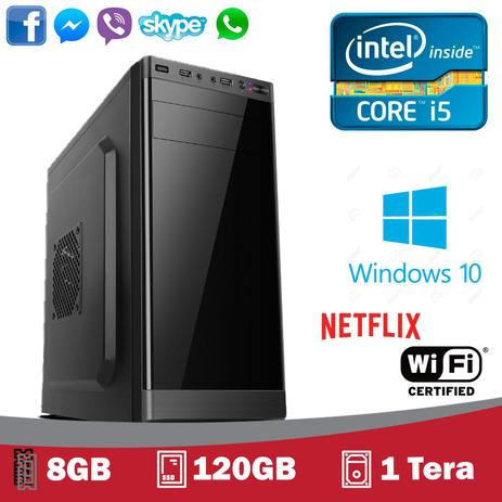 Imagem de Computador 5Tech Intel Core I5 3.4ghz, 8Gb, SSD 120gb, HD 1 Tera, Hdmi Fullhd, Windows 10 Profissional 2019